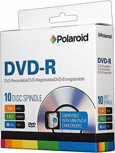 10 PCS Polaroid Mini DVD-R 1.4GB 30 Min 1-4x Recordable 8cm Disc for Camcorders