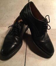 GIORGIO BRUTINI Men's Black Leather Oxford COMFORT Dress Shoes cap toe Size 9D