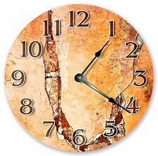 "10.5"" ORANGE CRACKED WALL CLOCK - Large 10.5"" Wall Clock Home Décor Clock - 3130"