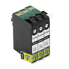 3x T133 T1331 Black Ink Cartridges For Epson NX125 420 430 WF320 325 435 NonOEM