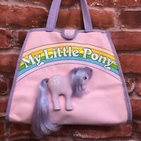 Vintage My Little Pony Hasbro Canvas Tote Bag Imaginings 3 Pink Purple Blossom