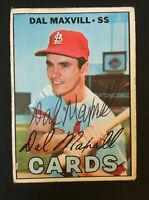 Dal Maxvill Cardinals signed 1967 topps baseball card #421 Auto Autograph