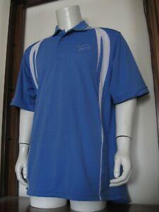 L Mens VF Imagewear Detroit Lions NFL Team Apparel Polo Shirt Blue large