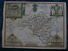 John Speed map of Radnorshire original published 1616