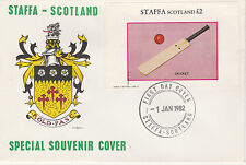 GB Locals - Staffa 3820 - 1982 SPORTS - CRICKET deluxe sheet  on FDC