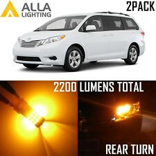 Alla Lighting Rear Turn Signal Light 7440 Amber Yellow LED Bulbs Lamp Blinker