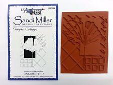Unmounted Rubber Stamp ~ GINGKO COLLAGE ~ Sandi Miller Original Art Stamp