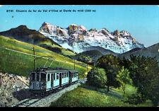 VAL d'ILLIEZ (SUISSE) TRAIN & DENTS du MIDI , période 1920