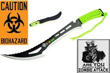 Zombie  Hunter Machete Stainless Apocalypse Sword BIOHAZARD Slayer Green