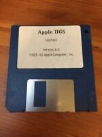 Vintage 1992 Mac Macintosh Apple IIGS 6.0 Software Installation Floppy Disk