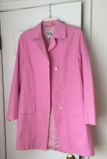 Lilly Pulitzer Pink Spring Trench Car Rain Coat Jacket 100% Cotton M