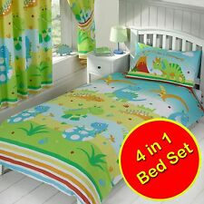 ROAR LIKE A DINOSAUR 4 in 1 JUNIOR BEDDING BUNDLE NEW DUVET SET KIDS