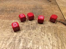 Battle Masters dice x5 Milton Bradely HeroQuest