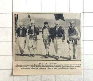 1928 Albanian Mountaineers In Tirana, Gala Costume, Proclamation Of New Kingdom