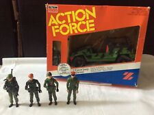 Vintage 1980s Action Man Action Force Z-force Jeep+driver With 4 Extra Figures