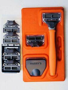 Harry's Men's Razor Set with 6 Razor Blades Bright Orange