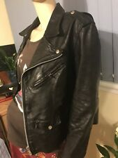 Vintage Perfecto Leather Biker Jacket Indie Retro Medium 38 gosling