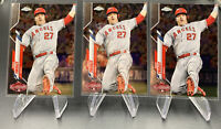6x 2020 Topps Chrome Update Mike Trout #U-69 All-Star Game Angels