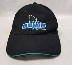 MudWolf ATV Tires Baseball Cap Trucker Hat, Black Embroidered, Adjustable