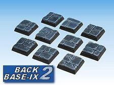 20mm Resin Scenic Bases 10 Square Dung Stone Warhammer
