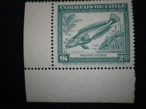 Correos De Chile FAUNA 1948 $2.60 A118 Scott# 255 w/TABS Green Single MLH RARE