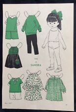 1967, SANDRA Mag. Paper Dolls, Wee Wisdom Mag.,Dorothy Wagstaff Artist