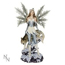 FAIRY ICE WOLVES PRINCESS WATCHERS  WOLF BRAND NEW NEMESIS RESIN FIGURINE BOXED