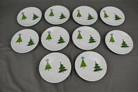 Gorham Christmas Splendor Dessert Plate Tree Holiday Set of 10 6 1/4""