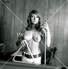 1960s NUDE 8X10 PHOTO OF BUSTY NIPPLES MICHELLE TROSELLO FROM ORIGINAL NEG-MT7