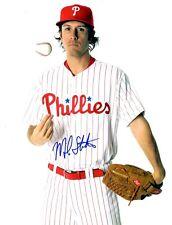 Signed 8x10 Michael Stutes Philadelphia Phillies Autographed photo - Coa