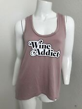 Express One Eleven Wine Addict Tank Purple XS Racerback Top Blouse Sleeveless