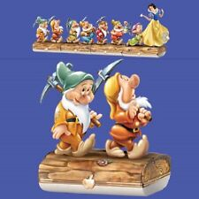 Bashful and Sneezy Limioges  Snow White and the Seven Dwarfs - Bradford Exchange