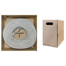 1000ft CAT5E UTP Bulk Cable, Stranded, 350MHz, 24 AWG, Gray  10X6-021SH