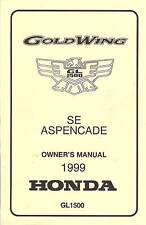 1999 HONDA GOLDWING GL1500 MOTORCYCLE OWNERS MANUAL -GOLD WING-SE-ASPENCADE