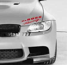 da BOSS Racing Vinyl Decal Sticker Sport Performance Car Truck SUV logo RED