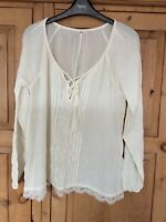 Ladies Hollister Long Sleeve Blouse / Shirt Size Small Ex Con