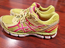 Asics GT 2000 Woman's Running Cross Training Shoes Sneakers Yellow Pink Size 6