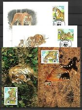 Laos - Tigers / Wild Animals - Maxi Cards + FDC Covers - 4 Stk. !!!!!  (A2875)