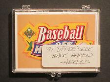 1991 Upper Deck HANK AARON Baseball Heroes Complete 10 Card Set