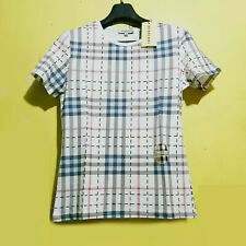 Bnwt Burberry Plaid White Tshirt