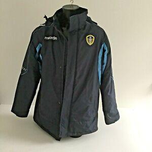 Macron Leeds United All Weather Men's Jacket Navy UK Large Preowned 856ZH
