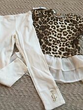 JUICY COUTURE $69 GIRLS 2 PC  LEGGING  SET SIZE-5T NWT Animal Print Color