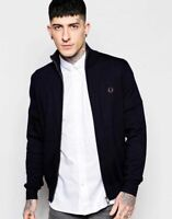 Fred Perry Track Fleece Jacket with Zip - Navy Blue - Small Medium Large & XL
