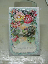 CONGRATULATIONS   POSTCARD  VINTAGE    GERMANY