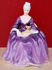 VINTAGE ROYAL DOULTON CHARLOTTE HN2421 PORCELAIN PURPLE DRESS FIGURINE