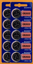 10 Pack SONY CR2032 3V Lithium Coin Battery New expire 2027