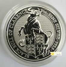 2oz Silver 2018 Queens Beast The Black Bull of Clarence - With Capsule