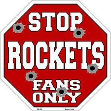 NBA Basketball Houston Rockets Metal Stop Sign Man Cave Garage Shop Barn BS-252