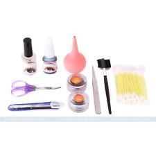 New False Individual Extension Black Eyelash Glue Brush Remover Tweezer Kit Set