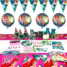 Little Mermaid Birthday Party Princess Arriel Tableware Girls Decor Tablecloth